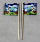 Party-Picker Flagge Leuchtturm Papierfähnchen in Spitzenqualität 50 Stück Beutel