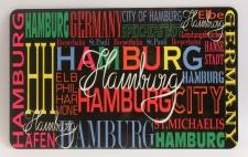 Frühstücksbrett Hamburg bunt Brettchen Frühstück Brett 23, 5 x 14, 3 x 0, 2 cm