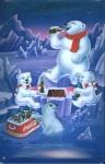 Blechschild Coca Cola Eisbären(1) Schach retro Schild Nostalgieschild