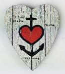 Herz Magnet Holz Anker Herz Glaube Liebe Hoffnung Herzmagnet Holzmagnet
