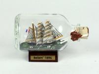 Belem Mini Buddelschiff 50 ml ca. 7, 2 x 4, 5 cm Flaschenschiff