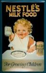 Blechschild Nestle Milk Food Milch Kleinkind Schild Werbeschild