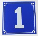 Hausnummernschild Aluminium Aluschild 1 mm Stärke Alu Schild Nr. 1 blau
