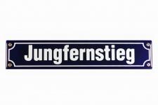 Strassenschild Jungfernstieg Hamburg 40x8 cm Email Strassen Schild Emaille