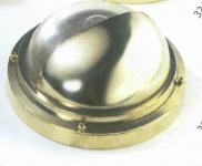 Wandleuchte mit Halbschirm Messing rund Durchmesser 24 cm 220 Volt (CHROM)