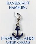 Hamburg Anhänger Anker blau Hamburg Ahoi Souvenir Accessoire