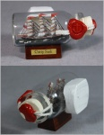 Buddelschiff Cutty Sark 5x2 cm Kühlschrankmagnet mit 10x3 mm Neodym Magnet So...