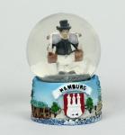 Schneekugel mit Hummel Figur 6x4, 5 cm Schüttelkugel Glitzerkugel klein