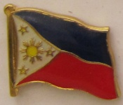 Philippinen Pin Anstecker Flagge Fahne Nationalflagge