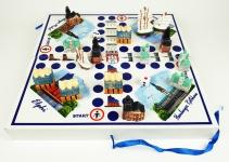 Hamburg Würfelspiel Brettspiel 2-4 Personen Gesellschaftsspiel Holz Rathaus M...