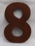"Hausnummer Ziffer "" 8"" aus lackiertem Natur - Holz, ca. 16 cm"