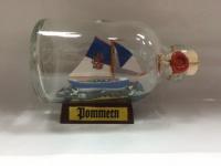 Pommern Mini Buddelschiff 50 ml ca. 7, 2 x 4, 5 cm Flaschenschiff