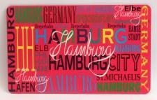 Frühstücksbrett Hamburg pink Brettchen Frühstück Brett 23, 5 x 14, 3 x 0, 2 cm