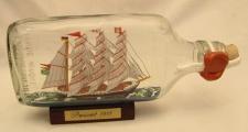 Passat Buddelschiff Flachmann 0, 2 Liter ca. 19x9 cm Flaschenschiff