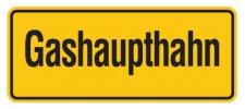 Aluminium Schild Gashaupthahn 100x240 mm geprägt