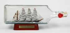 Passat eckige Ginflasche 0, 7 Liter Buddelschiff Flaschenschiff