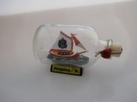 Königsberg Mini Buddelschiff 50 ml ca. 7, 2 x 4, 5 cm Flaschenschiff