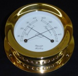 Schiffs Thermometer / Hygrometer 118 mm Messing schwer