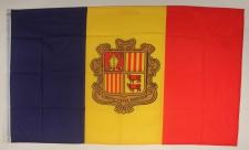Flagge Fahne : Andorra Andorraflagge Nationalflagge Nationalfahne