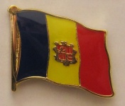 Pin Anstecker Flagge Fahne Andorra Nationalflagge Flaggenpin Button Badge Fla...