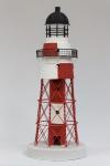 Blechleuchtturm rot / weiss 41 cm Leuchtturm Modell