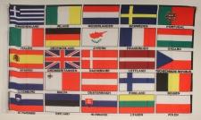Flagge Fahne : Europa / 25 Staaten