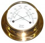 Schiffs Tthermometer / Hygrometer 110 mm Messing leicht