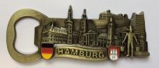 Magnet Hamburg Wahrzeichen Flaschenöffner Messing Souvenir Hummel Rathaus Sch...