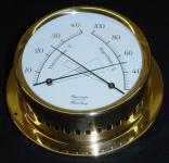 Schiffs Thermometer / Hygrometer 125 mm Messing leicht