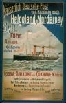 Blechschild Kaiserlich Deutsche Post Cuxhaven Helgoland Dampfer Schiff Schild...