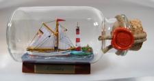 Möwe mit Landschaft rundes Gewürzglas 0, 25 Liter Buddelschiff Flaschenschiff