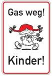 Aluminium Parkplatzschild Gas weg Kinder glatte Oberfläche 750x500 mm 2 mm Al...
