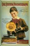 Blechschild Nostalgieschild The Edison Phonograph (1)