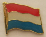 Pin Anstecker Flagge Fahne Luxemburg Nationalflagge