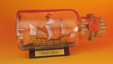 Santa Maria rundes Gewürzglas 0, 25 Liter Buddelschiff Flaschenschiff
