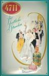 Blechschild 4711 Für festliche Stunden Kosmetik Parfum kölnisch Wasser Schild...