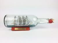 Nippon Maru Japan runde Flasche 0, 7 Liter Buddelschiff Museumsqualität