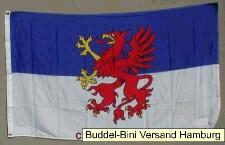 Pommern Flagge Großformat 250 x 150 cm wetterfest