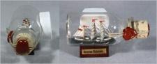 Buddelschiff Rickmer Rickmers Hamburg 5x2 cm Kühlschrankmagnet mit 10x3 mm Ne...