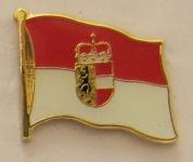 Pin Anstecker Flagge Fahne Salzburg Österreich Stadtflagge
