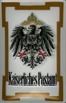 Blechschild Nostalgieschild Kaiserliches Postamt Adler Wappen Post