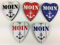 Herz Magnete Holz 5 Stück Moin Anker Herzmagnet Holzmagnet Magnetset