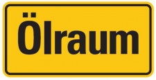 Aluminium Schild Ölraum 100x200 mm geprägt