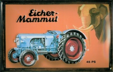 Blechschild Eicher Mammut 45 PS Traktor Schlepper retro Nostalgieschild Schild