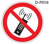 Aluminium Verbotsschild D-P018 Mobilfunk Handy verboten verschiedene Größen 0...