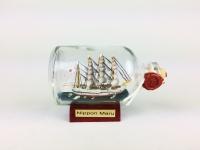 Nippon Maru Japan Mini Buddelschiff 50 ml ca. 7, 2 x 4, 5 cm Flaschenschiff