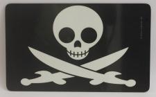 Frühstücksbrett Pirat Totenkopf Schwerter Brettchen Frühstück Brett 23, 5 x 14...