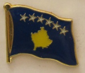 Pin Anstecker Flagge Fahne Kosovo