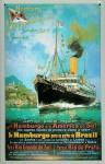 Blechschild Hamburg Süd Post Reederei Plakat Dampfer Schiff Schild Nostalgies...