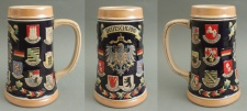 Bierkrug Deutschland Adler Keramik Bierseidel 0, 3 Liter Masskrug